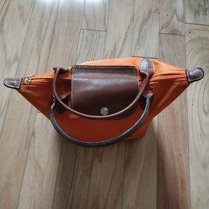 Longchamp Small Le Pliage Tote orange